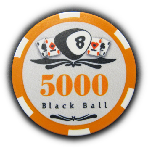 Pokerchip Black Ball